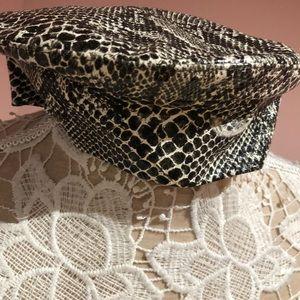Vintage leather python 🐍 cap